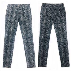 Michael Kors Gray Snakeskin Jeans/Leggings Size 2